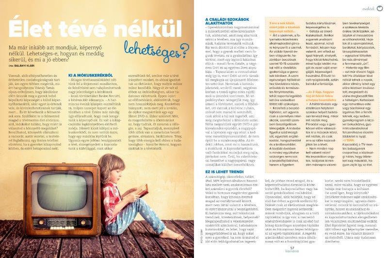 Kismama magazin mintaoldal