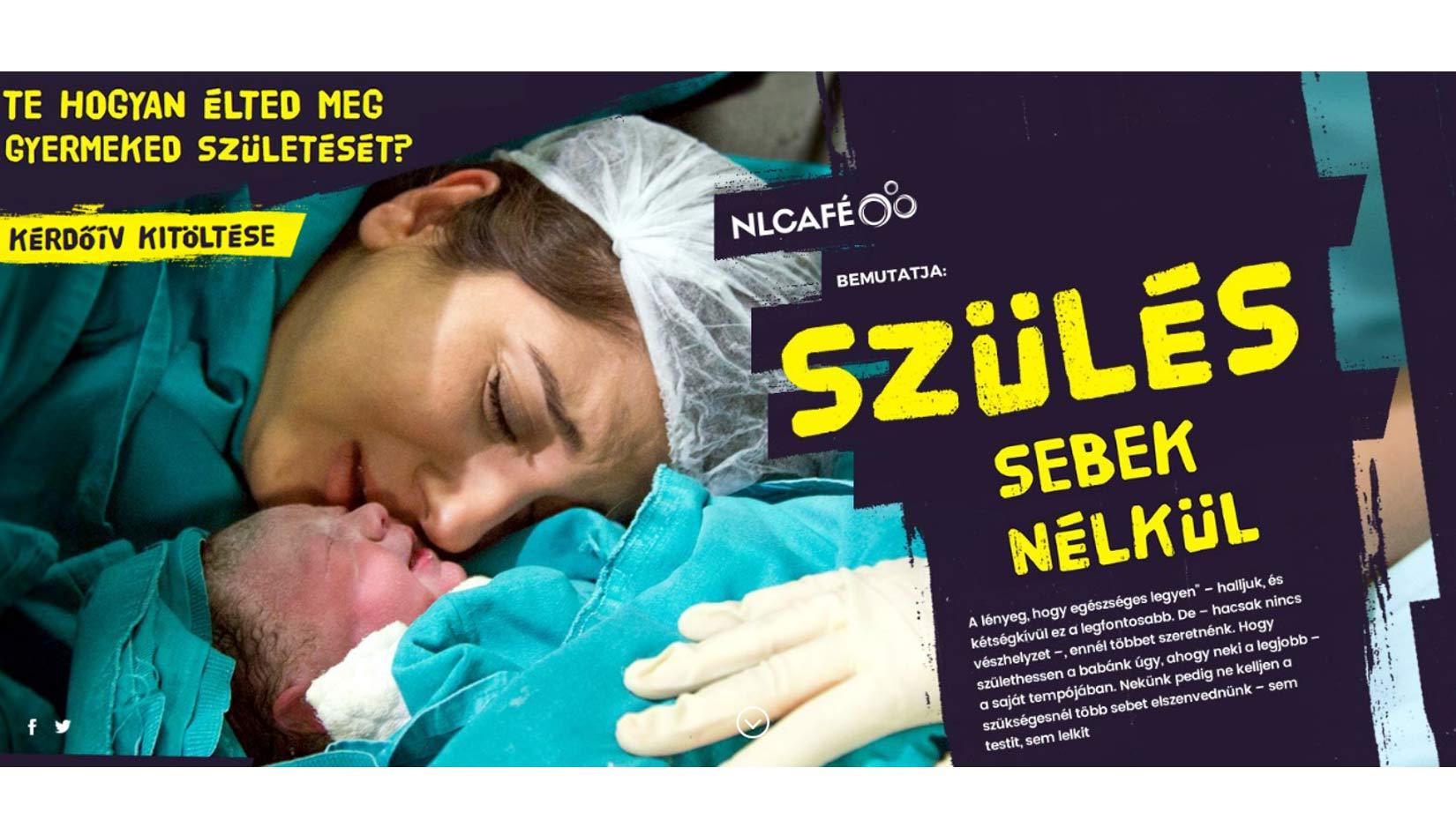 Szülés sebek nélkül – Egyedülálló cikksorozat indul az NLCafé-n