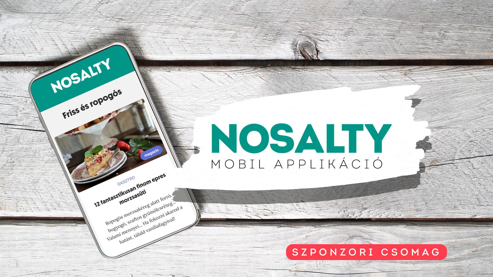 Nosalty applikáció – szponzori csomag