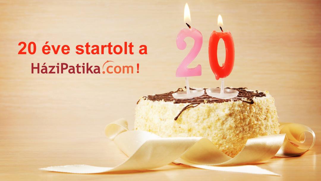 Boldog születésnapot – húsz éve startolt a HáziPatika.com!