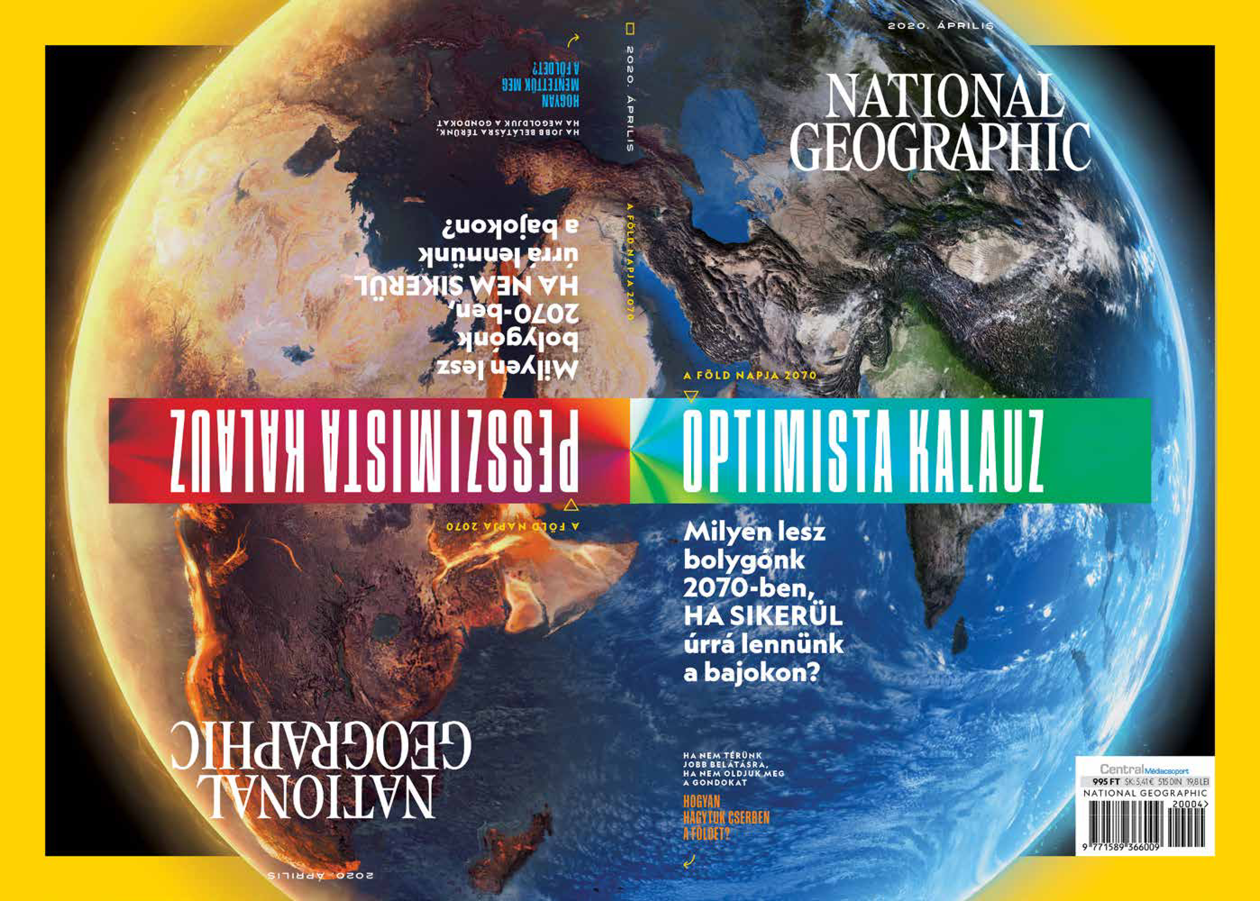 A Föld napja alkalmából, egyedülálló címlappal és tartalommal jelentkezik a National Geographic!