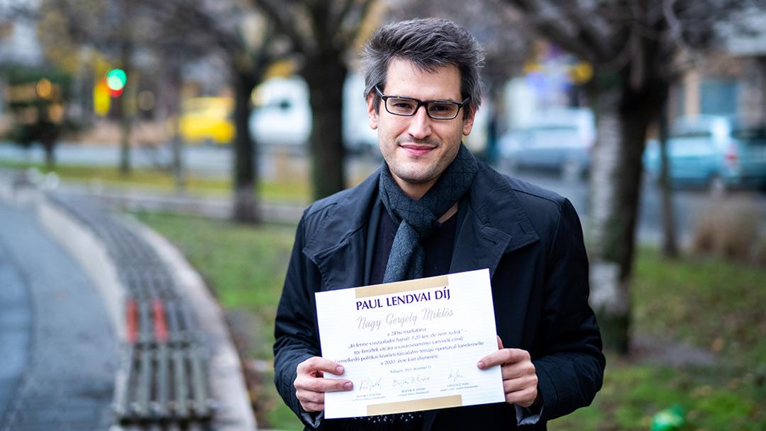 A 24.hu újságírója kapta a Paul Lendvai-díjat